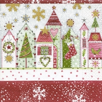 Servietten 33x33 cm - Christmas road