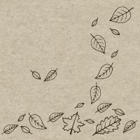 Servietten 25x25 cm - Herbst Herbst