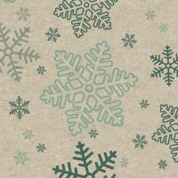 Servietten 25x25 cm - Schneeflocken