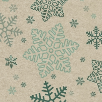 Servietten 25x25 cm - Snowflakes