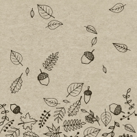 Servietten 33x33 cm - Herbst Herbst