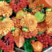 Servietten 24x24 cm - Flowers & fruits