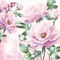 Servietten 24x24 cm - Rose garden