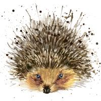 Servietten 24x24 cm - Cute hedgehog