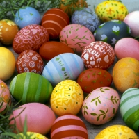 Servietten 25x25 cm - Colourful eggs