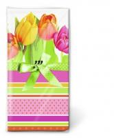 Taschentücher - Tulips and stripes