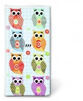 Taschentücher - Funny owls