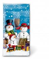 Taschentücher - Snowman family