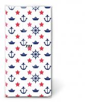 Taschentücher - Navy white