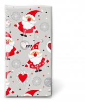 Taschentücher - Funny Santas