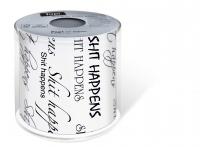 bedrucktes Toilettenpapier - Topi Shit happens