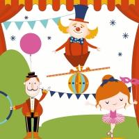 Servietten 33x33 cm - Carnival fun