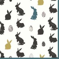 Servietten 33x33 cm - Bunny Craze