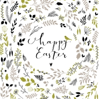 Servietten 33x33 cm - Happy Easter green