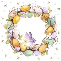 Servietten 33x33 cm - Eggs Wreath