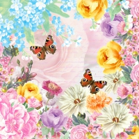 Servietten 33x33 cm - Butterfly charm