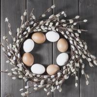 Servietten 33x33 cm - Rustic Eggs
