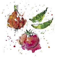 Servietten 33x33 cm - Splash Veggies