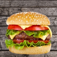 Servietten 33x33 cm - Happy Burger