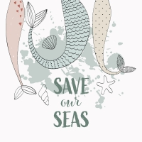 Servietten 33x33 cm - Save our Seas