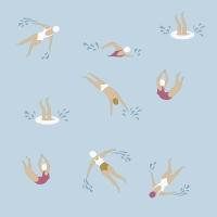 Servietten 33x33 cm - Swimming