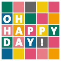 Servietten 33x33 cm - Happy Day