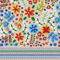 Servietten 33x33 cm - Embroidery