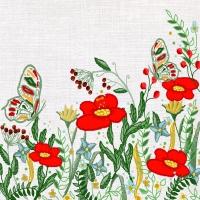 Servietten 33x33 cm - Poppies