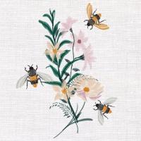 Servietten 33x33 cm - Floral Bees