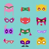 Servietten 33x33 cm - Hero Masks
