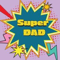 Servietten 33x33 cm - Super Dad