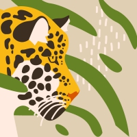 Servietten 33x33 cm - Amur Leopard