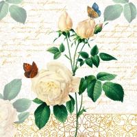 Servietten 33x33 cm - Rose Lace