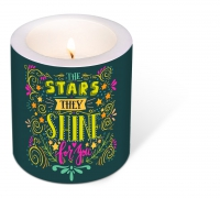 Dekorkerze - Decorated Candle Starshine