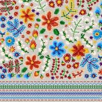 Servietten 24x24 cm - Embroidery