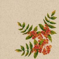 Servietten 33x33 cm - Rowan berry
