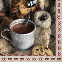 Servietten 33x33 cm - Hot Cocoa
