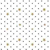 Servietten 33x33 cm - Black Stars