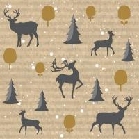 Servietten 24x24 cm - Deer Forest