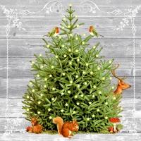 Servietten 33x33 cm - A special tree