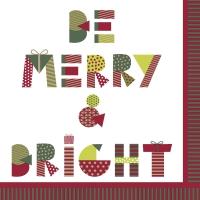 Servietten 33x33 cm - Be Merry