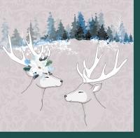 Servietten 40x40 cm - Deer Love