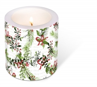 Dekorkerze - Decorated Merry Bright