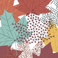 Servietten 33x33 cm - Modern Leaves
