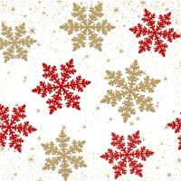 Servietten 33x33 cm - Delicate snow