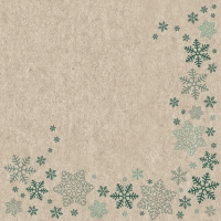 Servietten 33x33 cm - Snowflakes