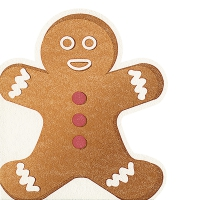 Gestanzte Servietten - Gingerbread man