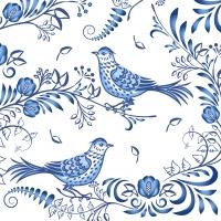 Servietten 33x33 cm - Porcelain bird