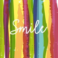 Servietten 33x33 cm - Smile