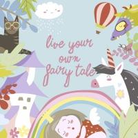 Servietten 33x33 cm - Fairytale